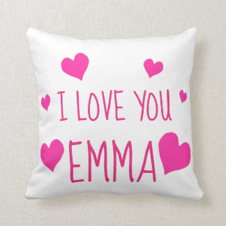 Valentine Hearts Personalized I Love You Cushion