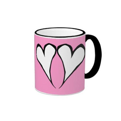 Valentine Hearts Pink Mug