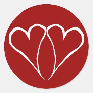 Valentine Hearts Red Sticker