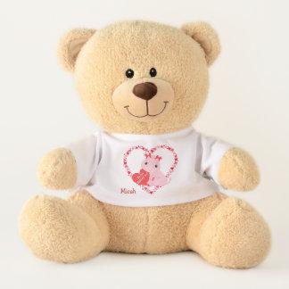 Valentine Hippopotamus Red Hearts Teddy Bear