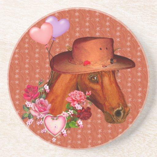 Valentine Horse Beverage Coasters