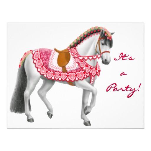 Valentine Horse Invitation