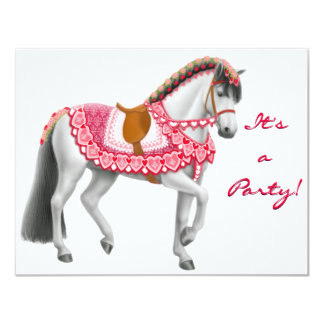 """Valentine Horse Invitation 4.25"""" X 5.5"""" Invitation Card"""