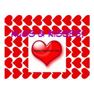 Valentine Hugs & Kisses Postcard