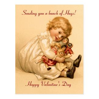 Valentine Hugs Postcard