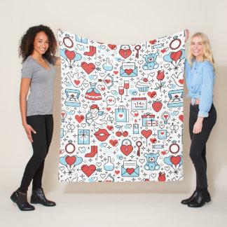 Valentine Icons fleece blankets