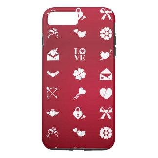 Valentine icons iPhone 8 plus/7 plus case