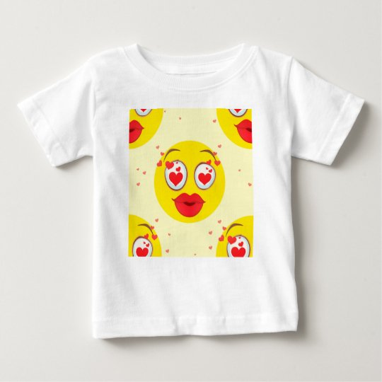 Valentine kiss Emoji Baby T-Shirt