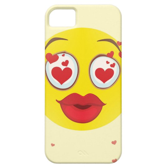 Valentine kiss Emoji Barely There iPhone 5 Case