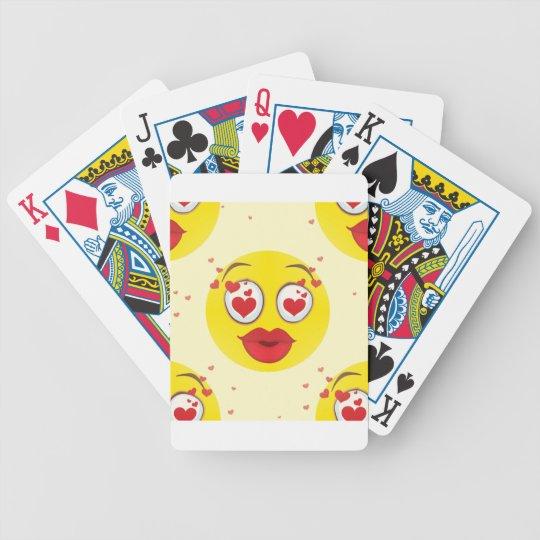 Valentine kiss Emoji Bicycle Playing Cards