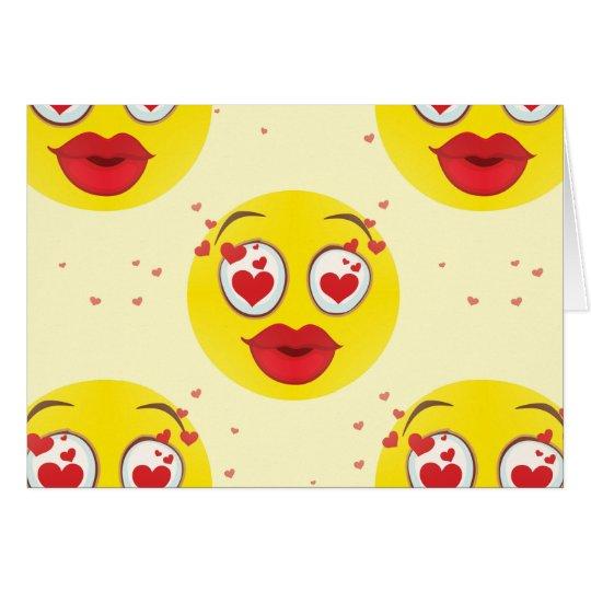 Valentine kiss Emoji Card