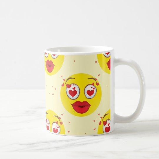 Valentine kiss Emoji Coffee Mug