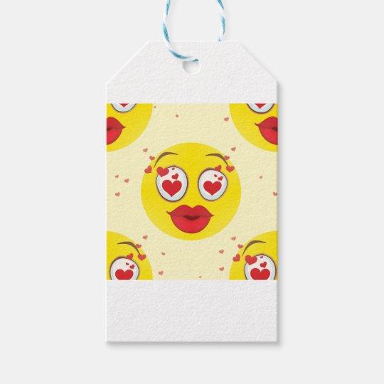 Valentine kiss Emoji Gift Tags
