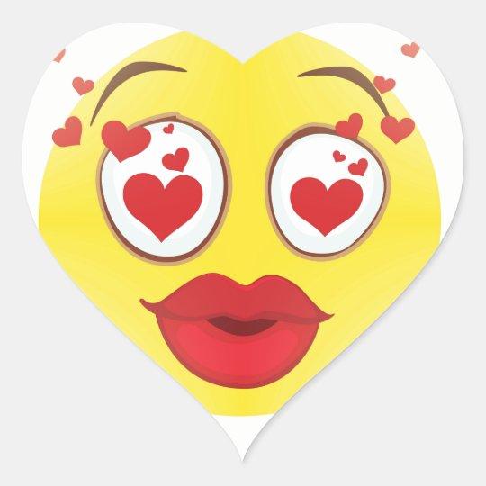 Valentine kiss Emoji Heart Sticker