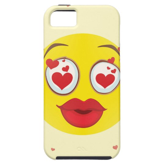 Valentine kiss Emoji iPhone 5 Case