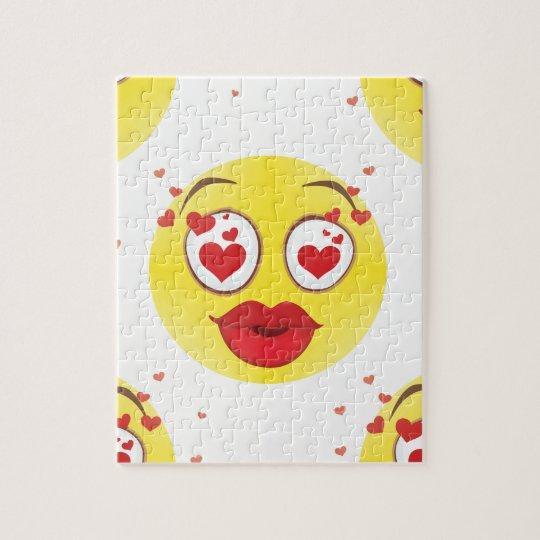 Valentine kiss Emoji Jigsaw Puzzle