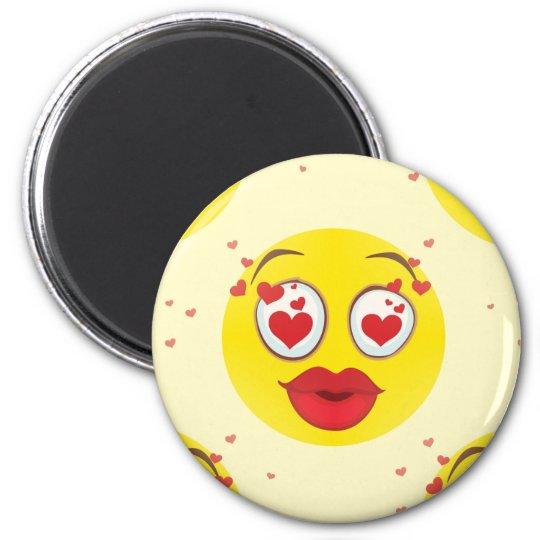 Valentine kiss Emoji Magnet