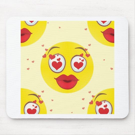 Valentine kiss Emoji Mouse Pad