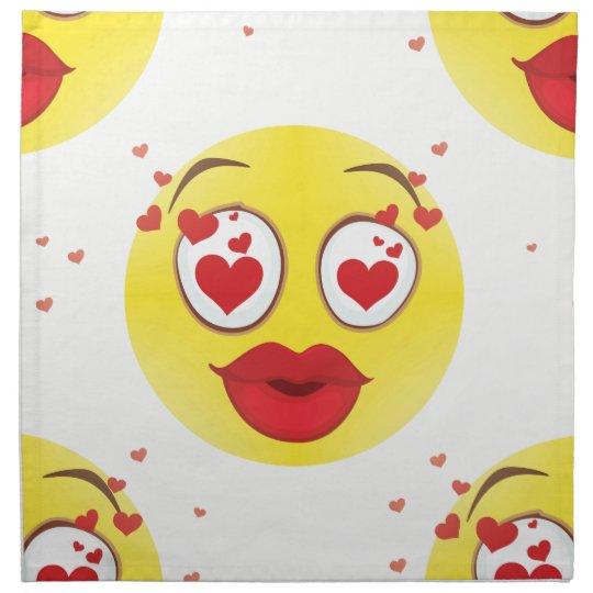 Valentine kiss Emoji Napkin