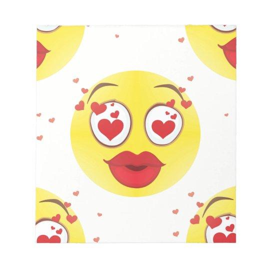 Valentine kiss Emoji Notepad