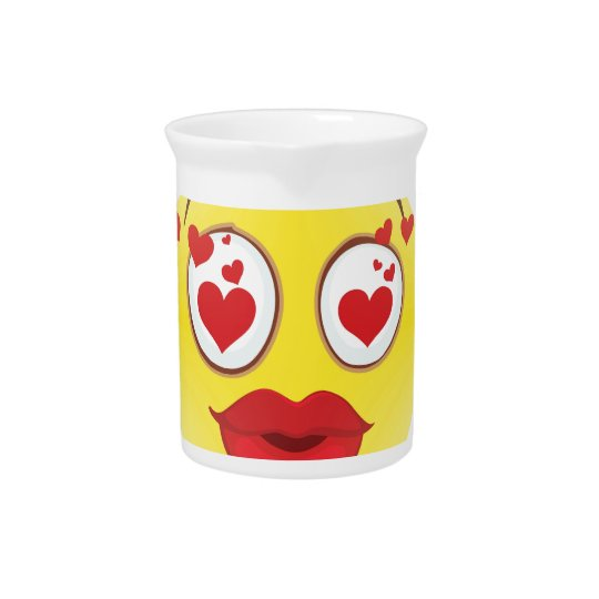Valentine kiss Emoji Pitcher