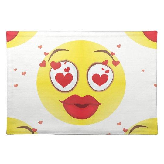 Valentine kiss Emoji Placemat