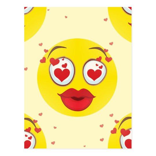 Valentine kiss Emoji Postcard