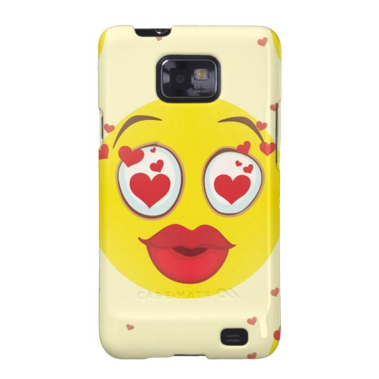 Valentine kiss Emoji Samsung Galaxy S2 Covers