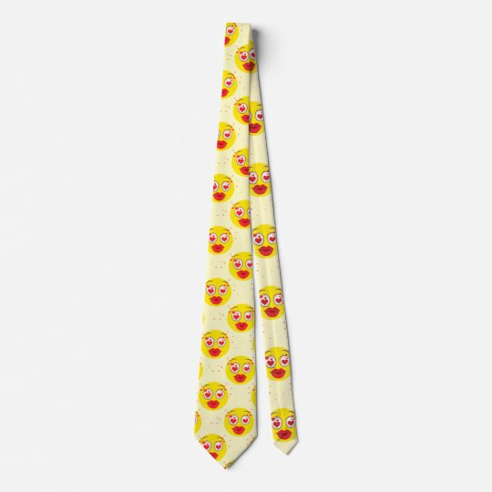 Valentine kiss Emoji Tie