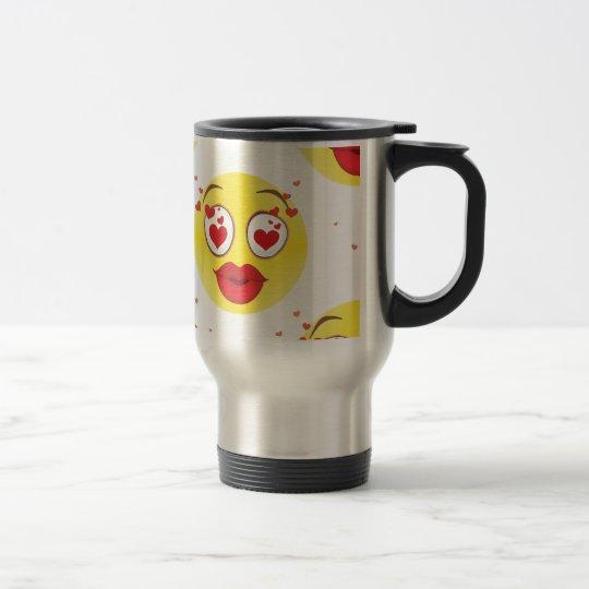 Valentine kiss Emoji Travel Mug