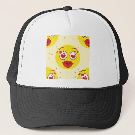 Valentine kiss Emoji Trucker Hat