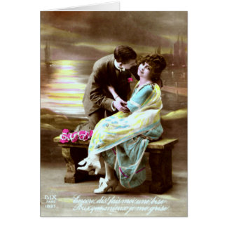 Valentine Kiss - Vintage Valentine Card