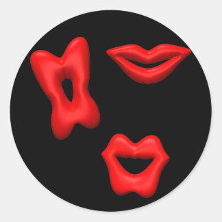 Valentine Kisses Sticker