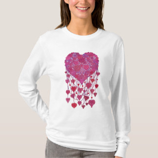 Valentine.Lacy Heart-necklace with beads T-Shirt