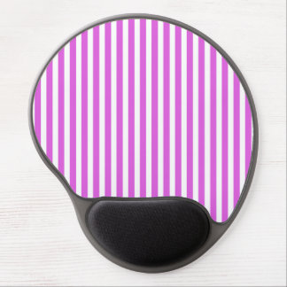 Valentine Lilac and White Stripes Gel Mouse Mats