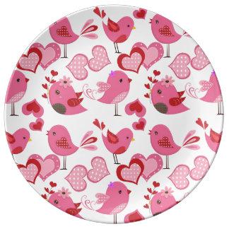 Valentine Love Birds Plate