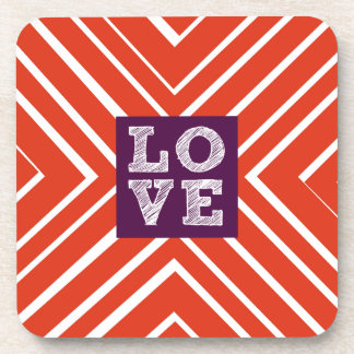 Valentine LOVE Bullseye Drink Coaster