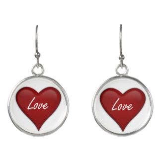 Valentine Love Heart Earrings