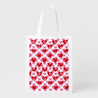 Valentine Love Heart Reusable Grocery Bag