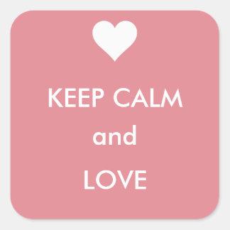 Valentine Love Keep Calm and Love Sticker