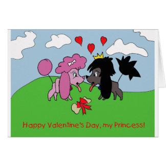 Valentine Love Poodles Card
