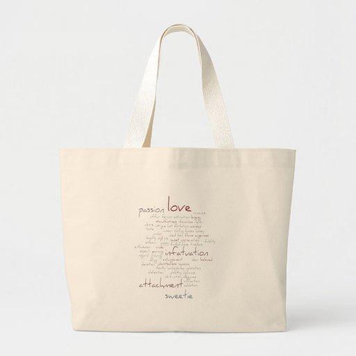 Valentine Love Word Cloud Bag