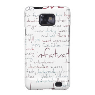 Valentine Love Word Cloud Galaxy S2 Covers