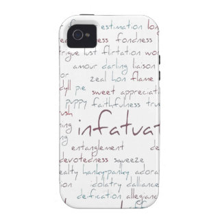Valentine Love Word Cloud Vibe iPhone 4 Case
