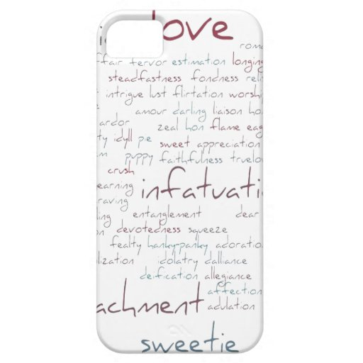 Valentine Love Word Cloud Cover For iPhone 5/5S