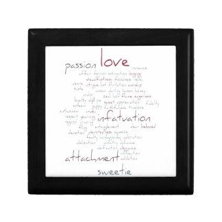Valentine Love Word Cloud Trinket Boxes