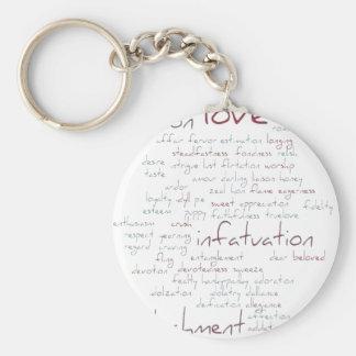 Valentine Love Word Cloud Keychain