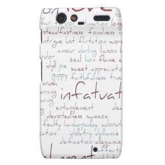 Valentine Love Word Cloud Motorola Droid RAZR Case