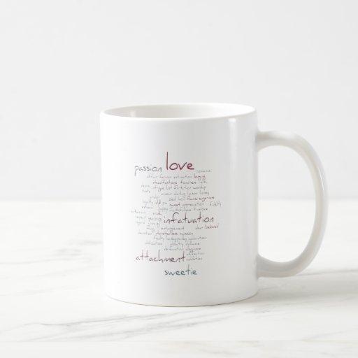 Valentine Love Word Cloud Mug