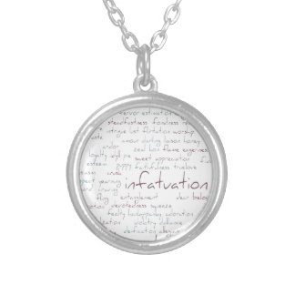 Valentine Love Word Cloud Necklaces